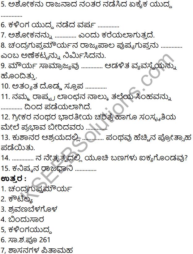 KSEEB Solutions for Class 8 History Chapter 7 Mouryaru Mattu Kushanaru 9
