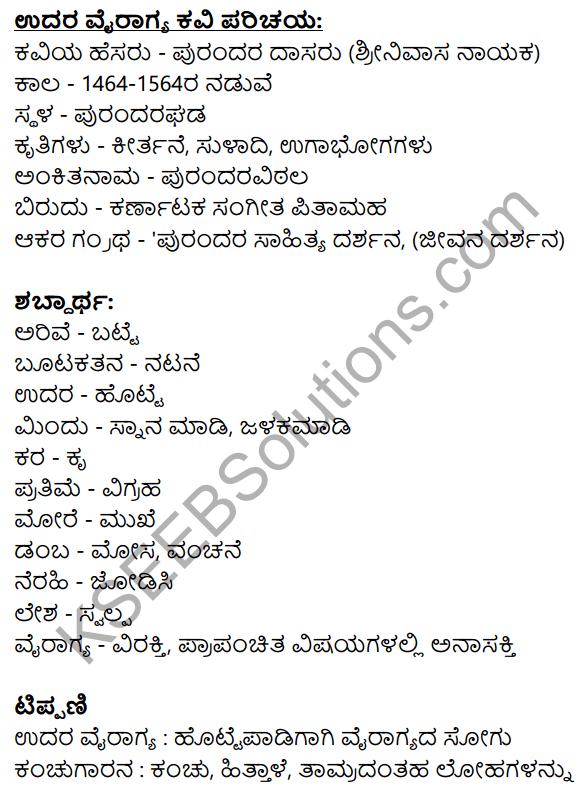 Nudi Kannada Text Book Class 10 Solutions Chapter 10 Udara Vairagya 11