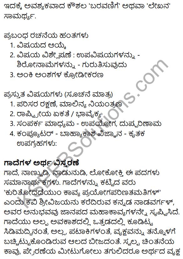 Nudi Kannada Text Book Class 10 Solutions Chapter 11 Nanna Pustaka Prapancha 13