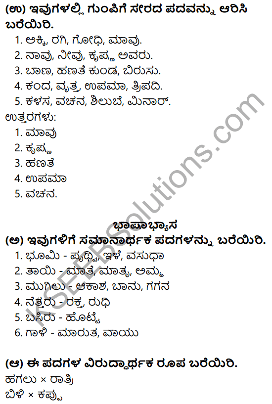 Nudi Kannada Text Book Class 10 Solutions Chapter 4 Bhumitaya Kudigalu 10