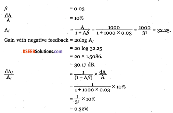 2nd PUC Electronics Question Bank Chapter 4 Feedback in Amplifiers 23
