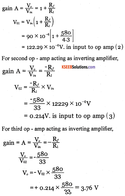 2nd PUC Electronics Question Bank Chapter 5 Operational Amplifiers(OP-Amp) 84