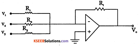 2nd PUC Electronics Question Bank Chapter 5 Operational Amplifiers(OP-Amp) 9