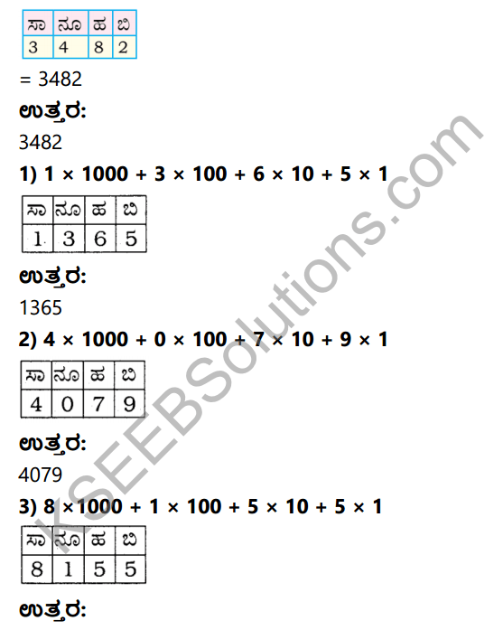 KSEEB Solutions for Class 4 Maths Chapter 2 Numbers in Kannada 11
