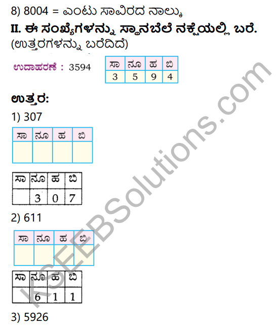 KSEEB Solutions for Class 4 Maths Chapter 2 Numbers in Kannada 2