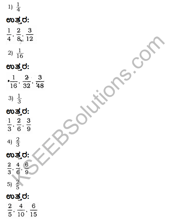 KSEEB Solutions for Class 4 Maths Chapter 9 Fractional Numbers in Kannada 7