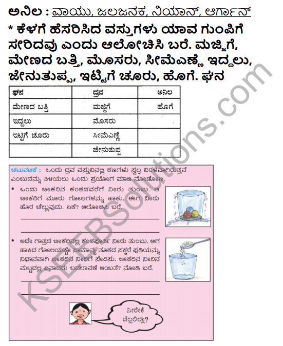 KSEEB Solutions for Class 5 EVS Chapter 11 Nature of Matter in Kannada 4