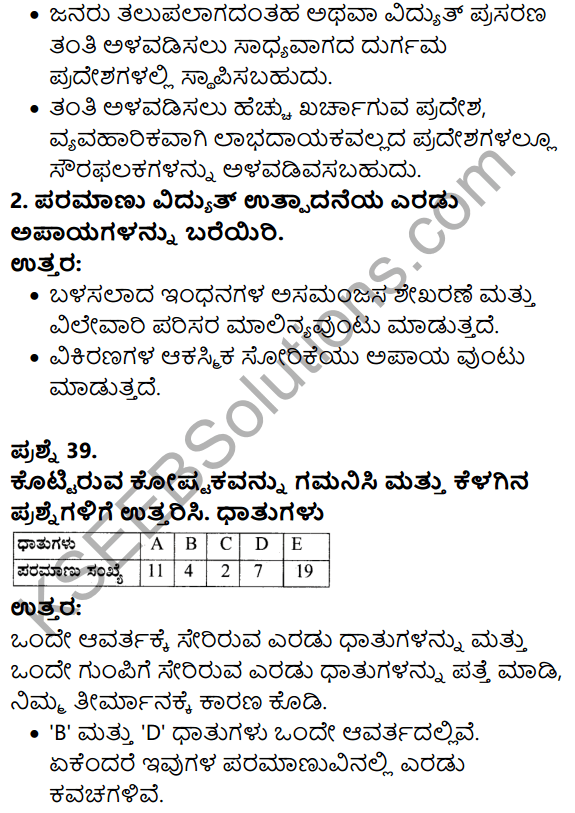 Karnataka SSLC Science Previous Year Question Paper March 2019 in kannada - 25