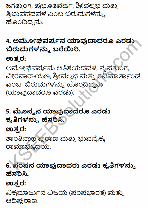 2nd PUC History Question Bank Chapter 4 Ancient Period in Kannada 122