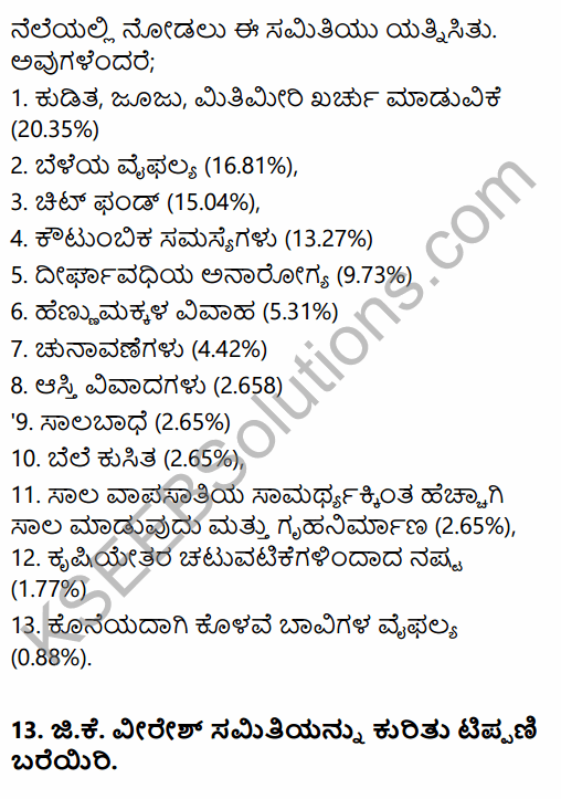 2nd PUC Sociology Question Bank Chapter 5 Change and Development of Villages and Urbanisation in India in Kannada 41