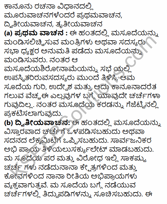 1st PUC Political Science Question Bank Chapter 6 Legislature in Kannada 37