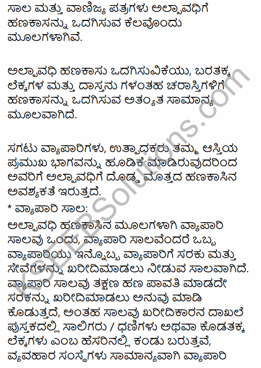 1st PUC Business Studies Question Bank Chapter 8 Sources of Business Finance in Kannada 15