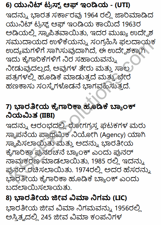 1st PUC Business Studies Question Bank Chapter 8 Sources of Business Finance in Kannada 23