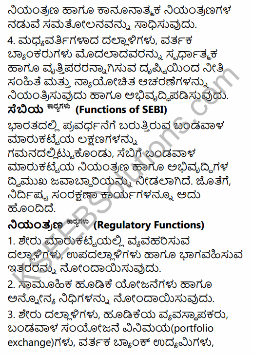 2nd PUC Business Studies Question Bank Chapter 10 Financial Market in Kannada 30