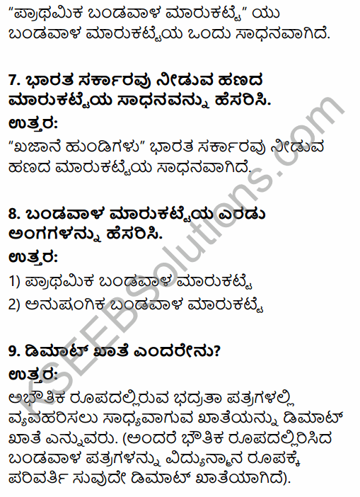 2nd PUC Business Studies Question Bank Chapter 10 Financial Market in Kannada 55