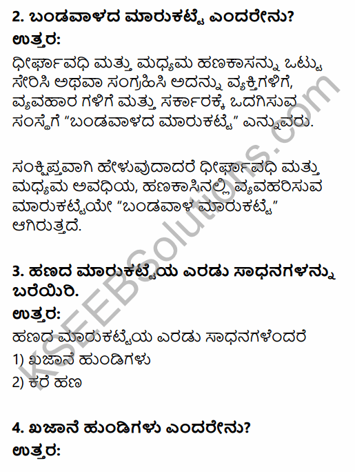 2nd PUC Business Studies Question Bank Chapter 10 Financial Market in Kannada 61