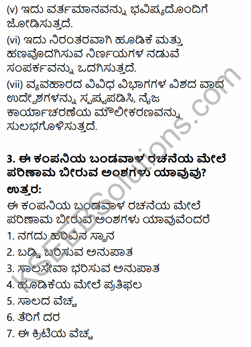 2nd PUC Business Studies Question Bank Chapter 9 Financial Management in Kannada 37