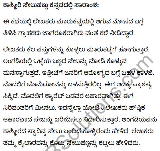 कश्मीरी सेब Summary in Kannada 1