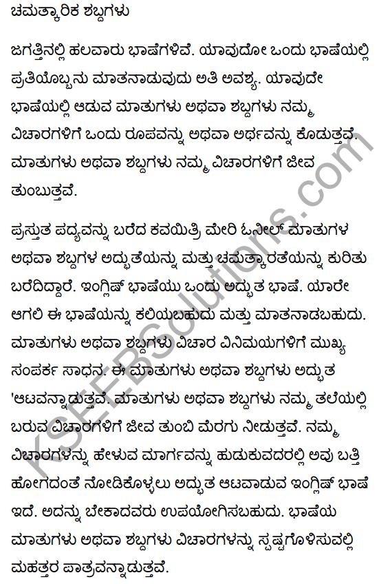 The Wonderful Words Poem Summary in Kannada 1