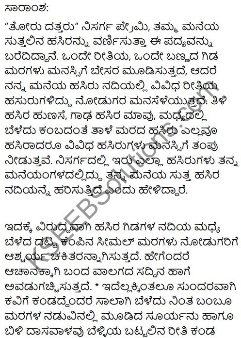 Sonnet Summary in Kannada 1
