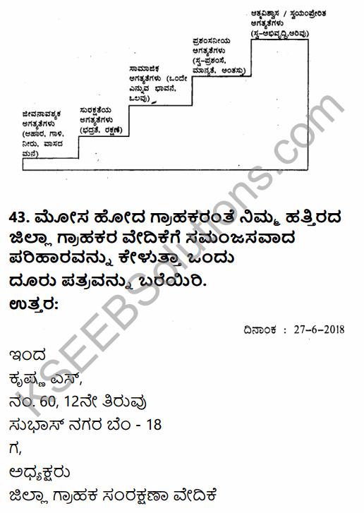 2nd PUC Business Studies Model Question Paper 6 with Answers in Kannada 341