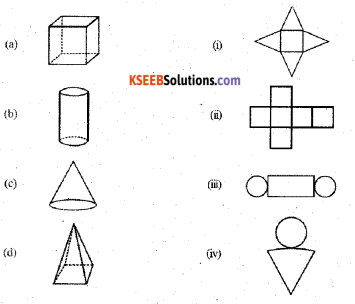 KSEEB Solutions for Class 7 Maths Chapter 15 Visualising Solid Shapes Ex 15.1 6