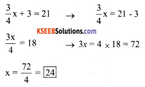 KSEEB Solutions for Class 7 Maths Chapter 4 Simple Equations Ex 4.4 3