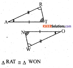 KSEEB Solutions for Class 7 Maths Chapter 7 Congruence of Triangles Ex 7.2 9