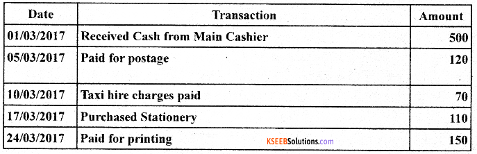 1st PUC Accountancy Model Question Paper 5 with Answers image - 3