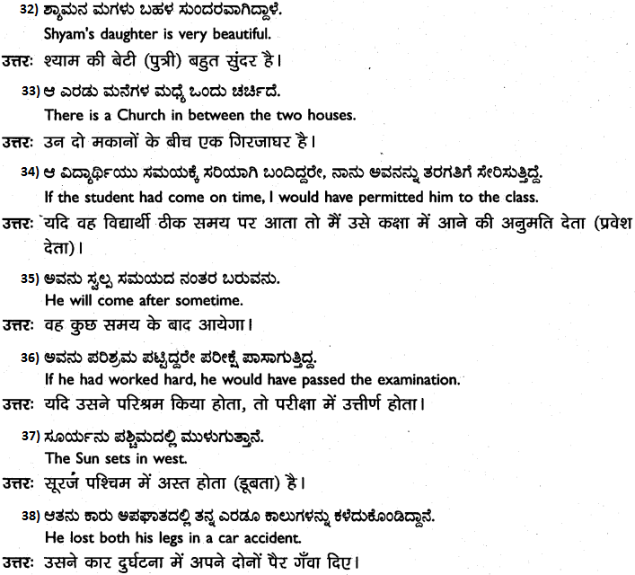 1st PUC Hindi Workbook Answers अनुवाद 6