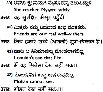 1st PUC Hindi Workbook Answers अनुवाद 7