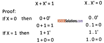 2nd PUC Computer Science Boolean Algebra Three Marks Questions and Answers 44