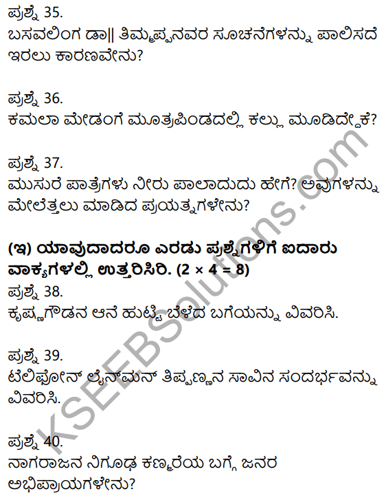 2nd PUC Kannada Previous Year Question Paper March 2015 10