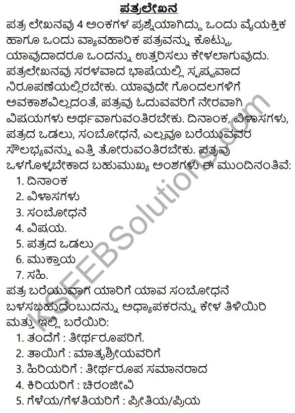 2nd PUC Kannada Workbook Answers Chapter 10 Patralekhana 1