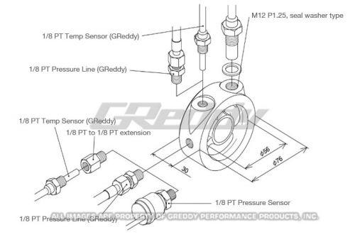 GReddy Oil Block Adapter: K Series Parts