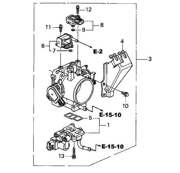 Honda OEM Throttle Body: K Series Parts