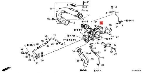 Honda 17-18 Civic Type R Turbocharger Assembly: K Series Parts