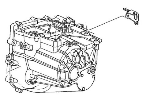 Honda 02-06 RSX Transmission Hanger