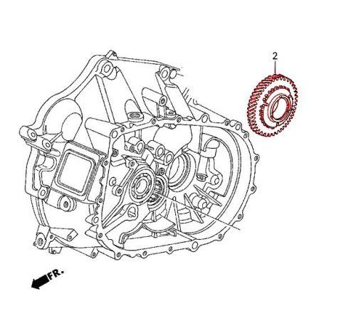Honda 02-05 Civic Si OEM Low Gear Counter Shaft: K Series