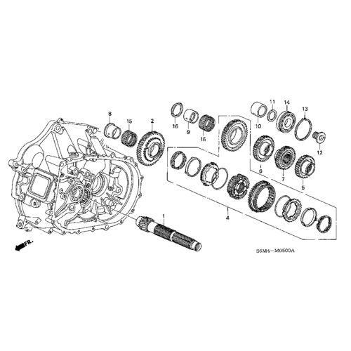 Honda OEM K Series Countershaft 1st Gear: K Series Parts