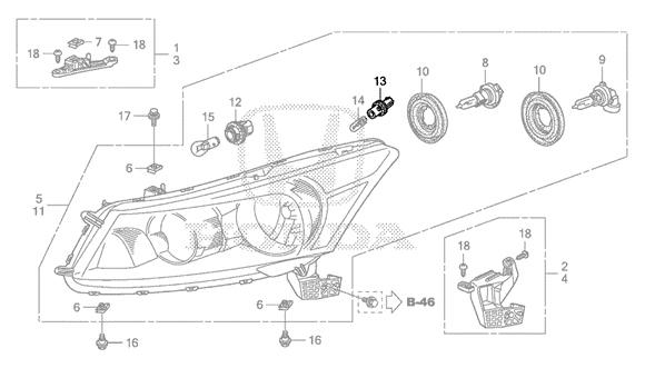 Honda 08-12 Accord Parking Light Socket (T10): K Series Parts