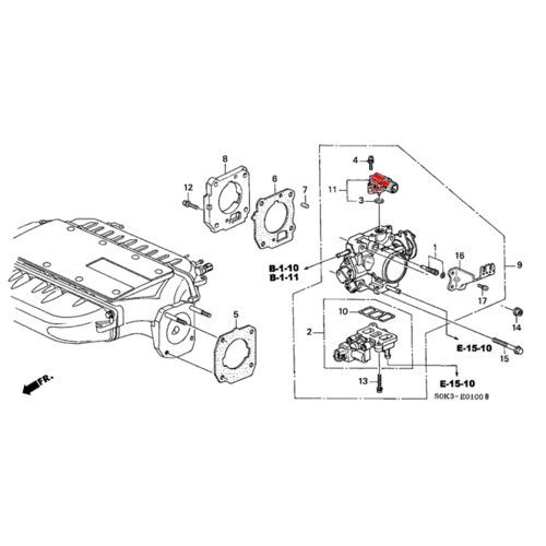 Acura 02-03 TL OEM Replacement Map Sensor: K Series Parts
