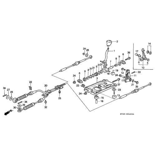 Honda 94-97 Accord OEM Shifter Cables: K Series Parts