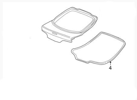 Honda OEM 02-06 RSX Rear Hatch Weatherstrip: K Series Parts