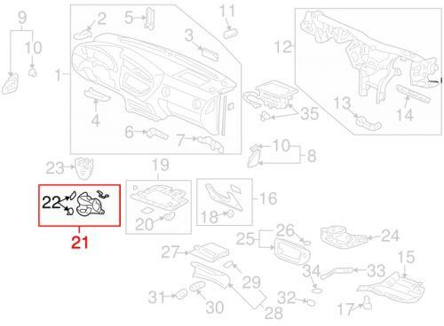 Acura 02-06 RSX Driver Side Dash Flip Pocket (Titanium): K