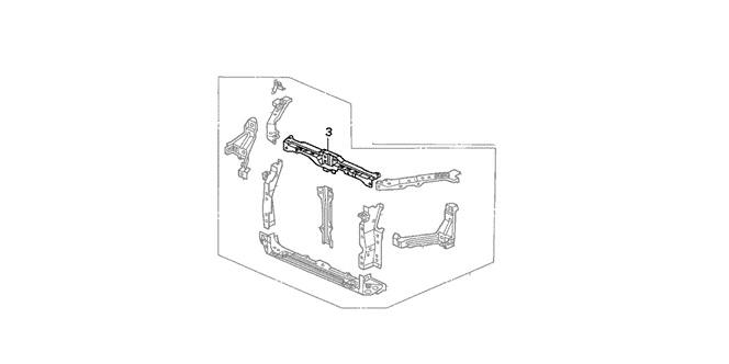 Honda 02-06 RSX Front Bulkhead Frame Set (Upper): K Series