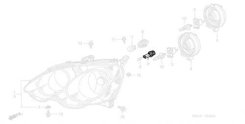 Acura 02-04 RSX Light Socket (Parking): K Series Parts