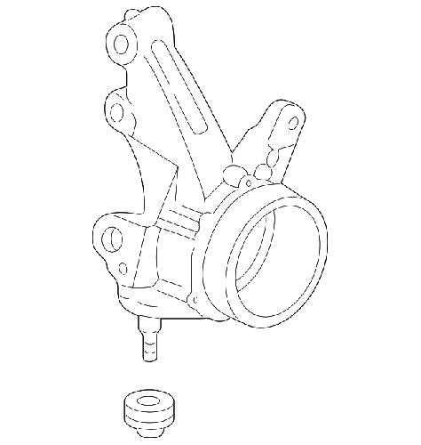 Honda OEM 02-04 Acura RSX Front Passenger Knuckle: K