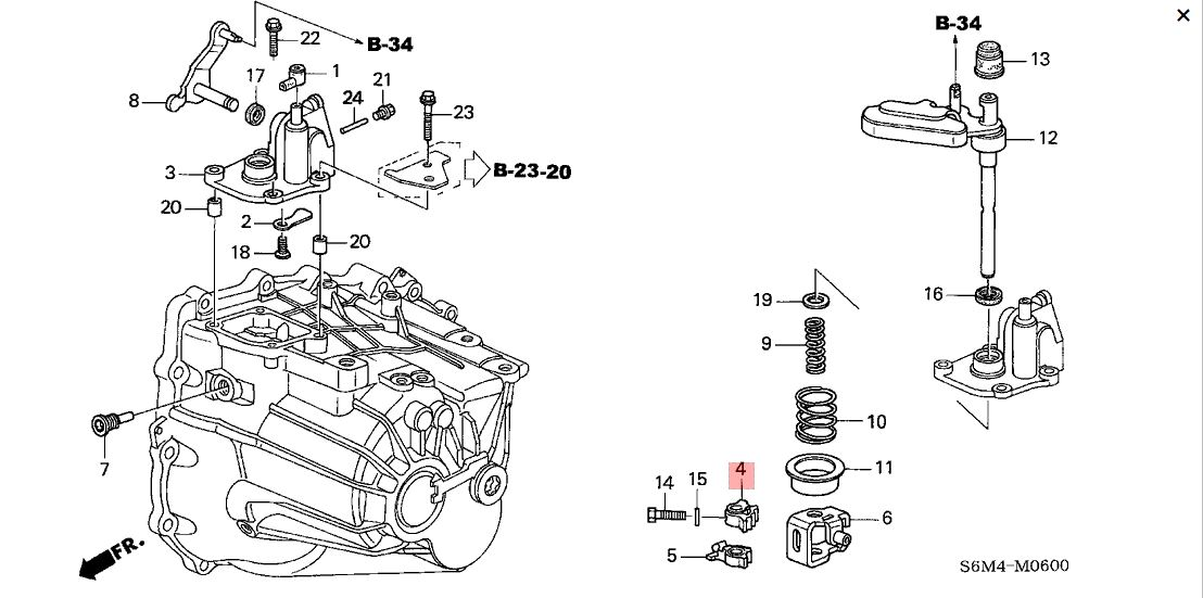 Honda OEM K Series Shift Arm: K Series Parts