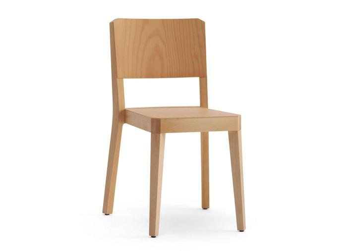 lot de 2 chaises en bois de hetre naturel ou teinte wenge noyer ou noir stealth par livoni